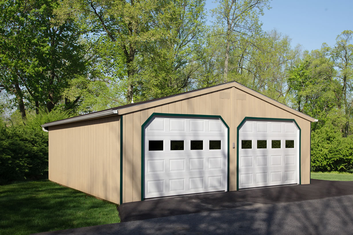 9x7 Garage Door Double Wide A Frame Garage At Riehl Quality Storage Barns