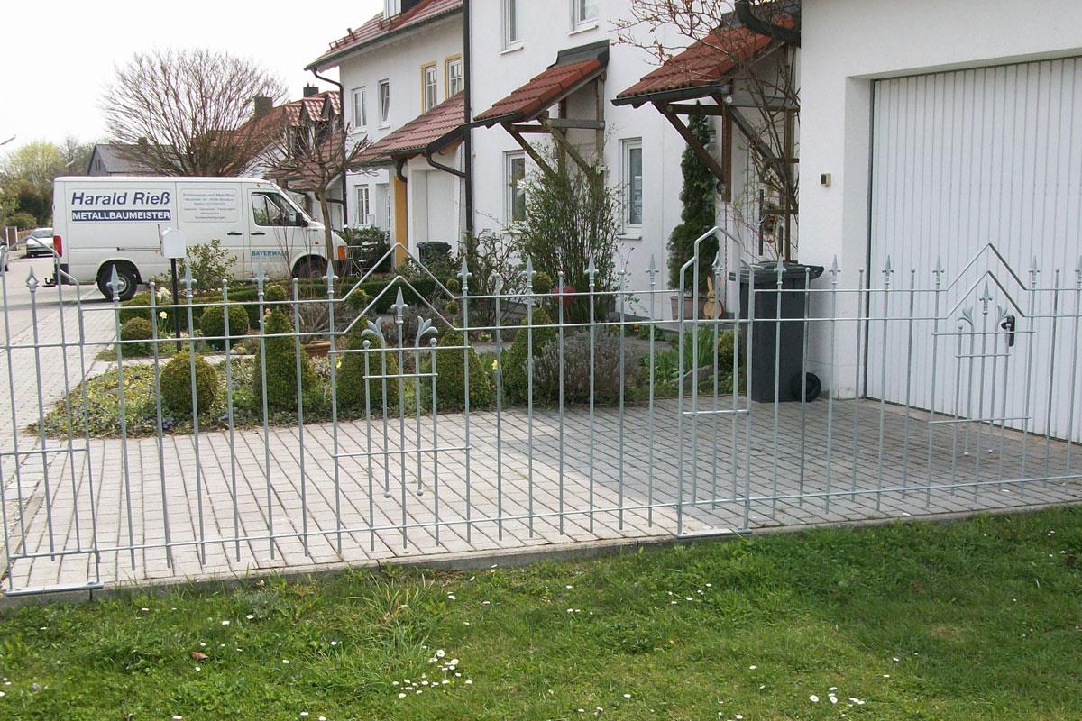 Schmiedeeisen Zaun Selber Bauen Gartentor Metall Hoftor Gartentor