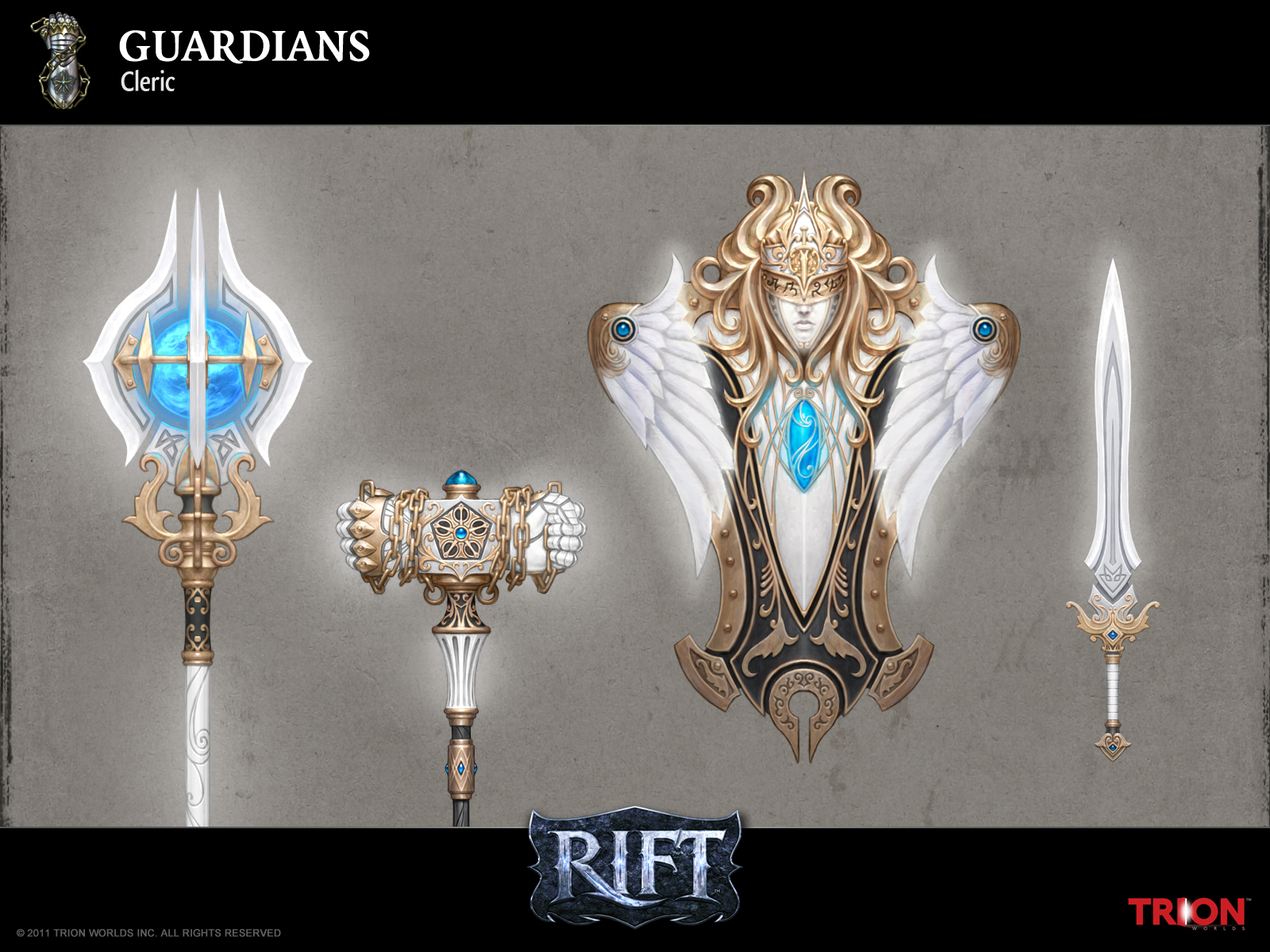 Lineage 2 Wallpaper Hd Rift Guardian Weapons 3 Riftgrate