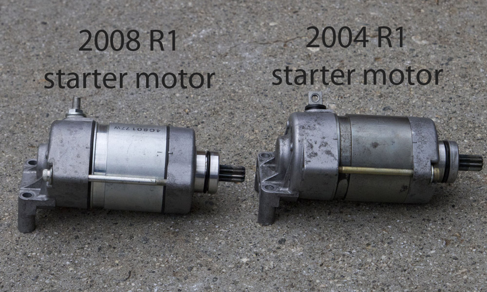 Self-inflicted) problems with 2004 R1 and starter motor - Yamaha R1