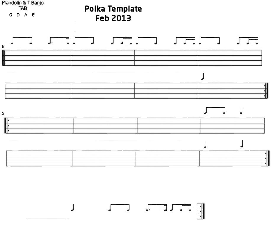 Blank TAB Templates Mandolin GDAE TAB 200 tunes, so far