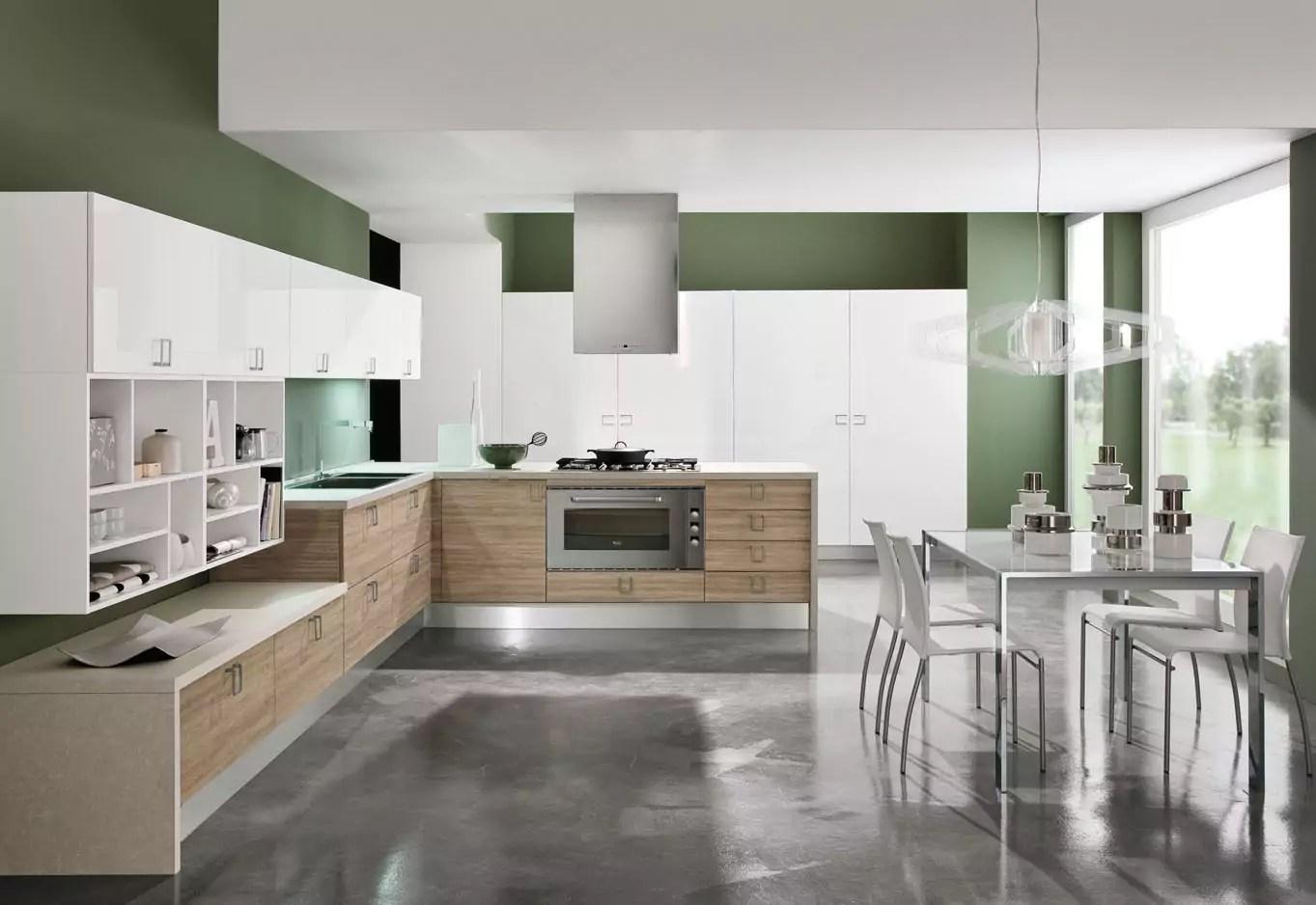 Pavimento cucina legno e piastrelle: piastrelle e pavimenti per