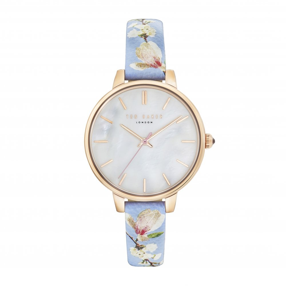 Leather Strap Rose Gold Watch Ted Baker Watches Ladies Rose Gold Tone Quartz Watch On Leather Strap Te50005018