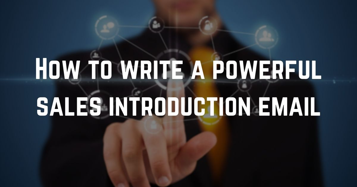How to write a sales introduction email ? RightHello