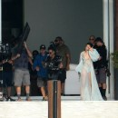 Rihanna Goes Braless In A Sheer Robe And Thong While Wielding A Gun On The Set Of Her New Music Video In Miami