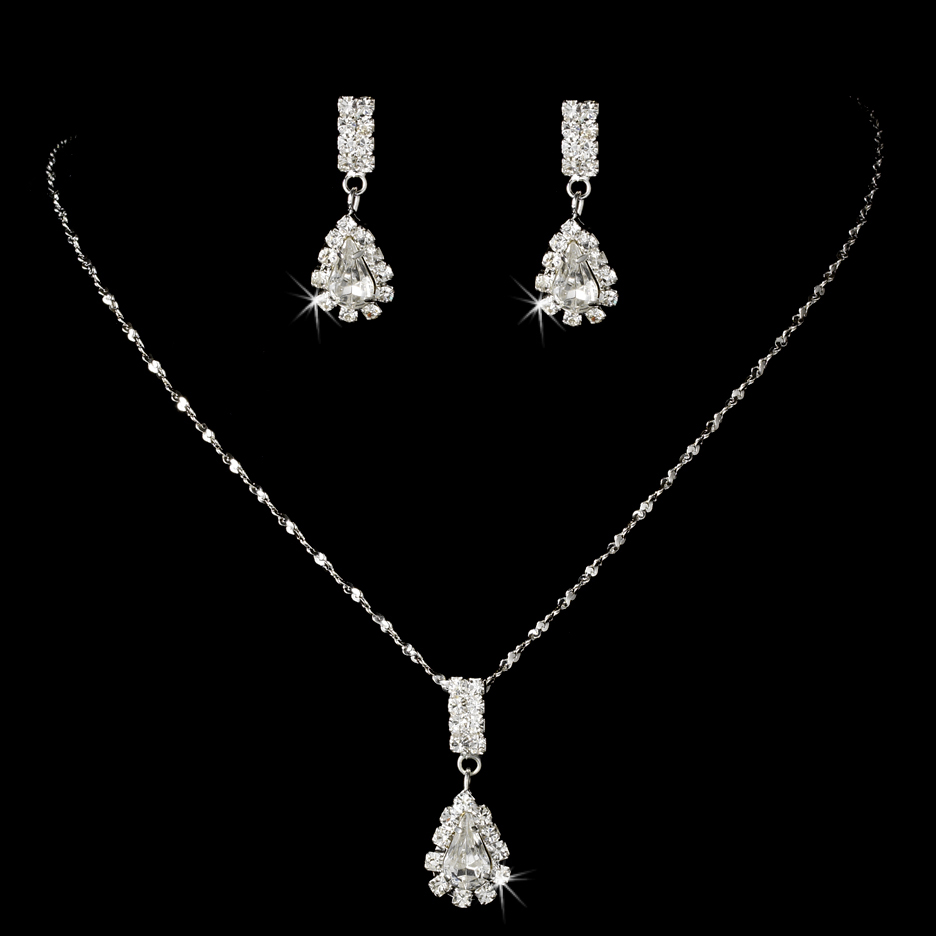 Where To Get Bridal Jewelry Details About Affordable Rhinestone Teardrop Bridesmaid Jewelry Set Necklace And Earring
