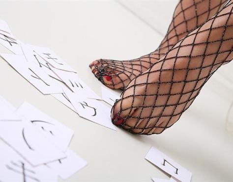 Fishnet Foot Fetish!