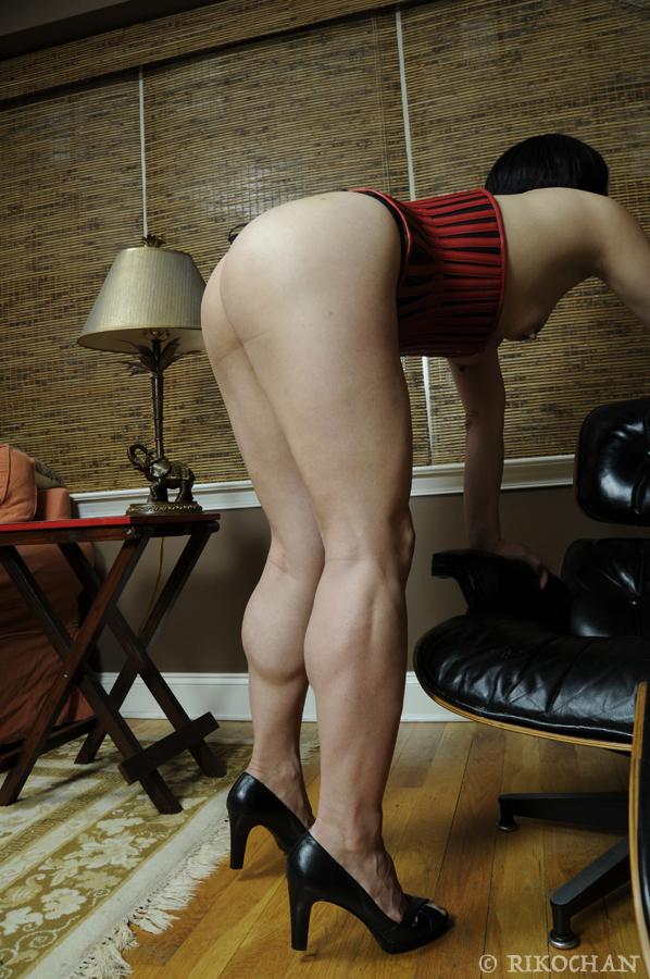 Rikochan's legs and ass