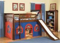 Kids loft bed with slide  Design, Ideas, Photos - Rilane