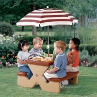 Kids picnic table with umbrella  Photos, Ideas - Rilane