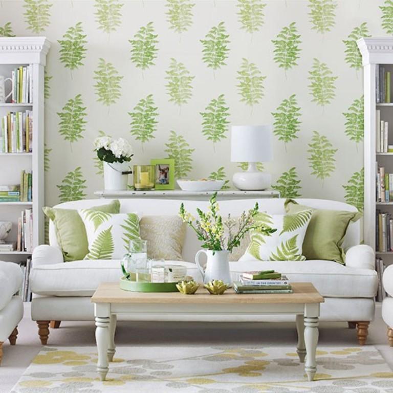 20 Sumptomous Living Room Wallpaper Designs - Rilane - wallpaper ideas for living room