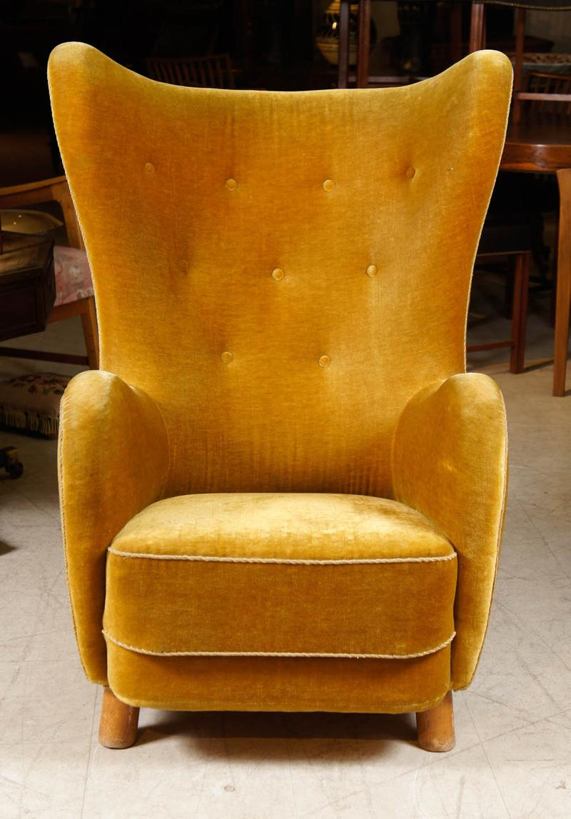 All Modern Furniture Fabolous Yellow Wingback Chair Design Ideas - Rilane