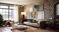 20 Exposed Brick Walls in Modern Living Rooms - Rilane