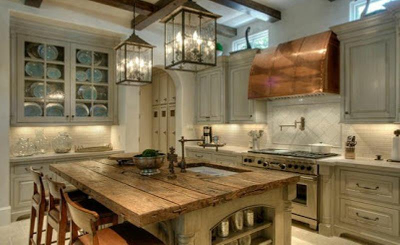 Beautiful Rustic Kitchen Island Ideas Intended - rustic kitchen lighting ideas