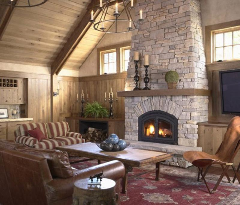 Como Decorar Mi Casa Rustica Stunning Living Rooms With Stacked Stone Fireplace - Rilane