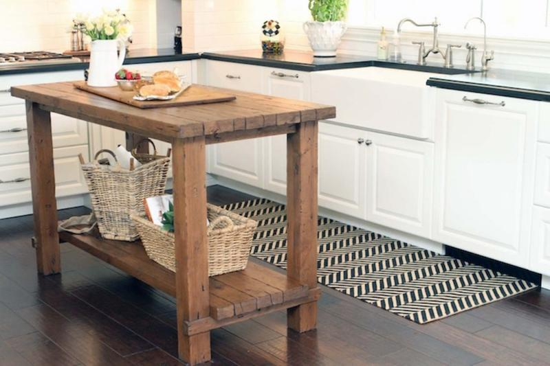 Kitchen Island Butchers Block 15 Reclaimed Wood Kitchen Island Ideas - Rilane