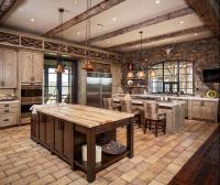 15 Rustic Kitchen Designs with Exposed Roof Beams - Rilane