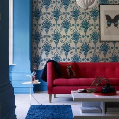 20 Living Rooms with Beautiful Floral Wallpaper - Rilane