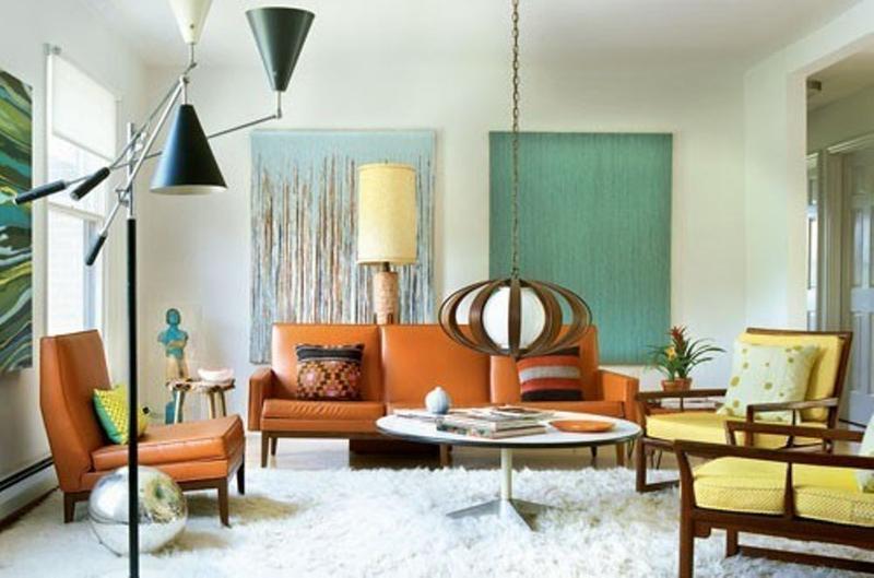 20 Captivating Mid-Century Living Room Design Ideas - Rilane - retro living room furniture