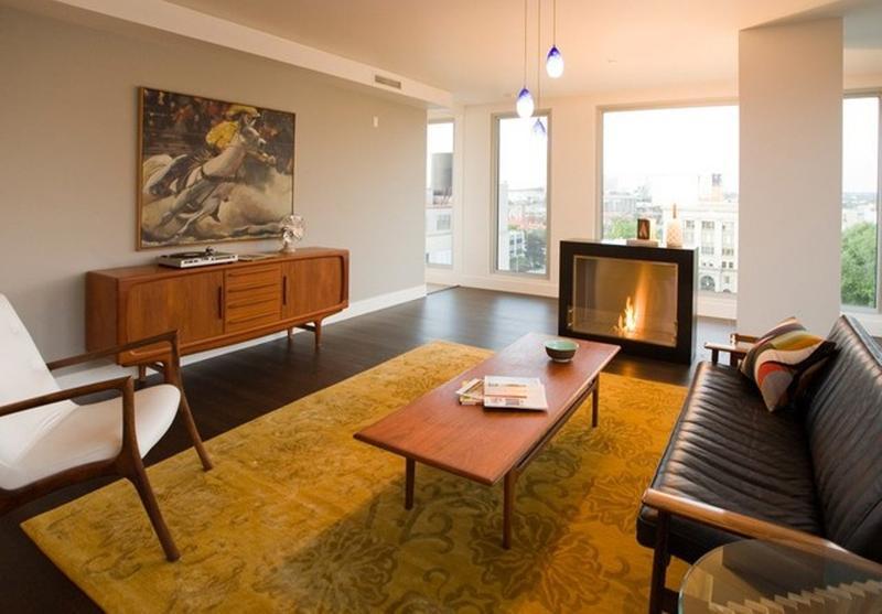 20 Captivating Mid-Century Living Room Design Ideas - Rilane - mid century modern living room