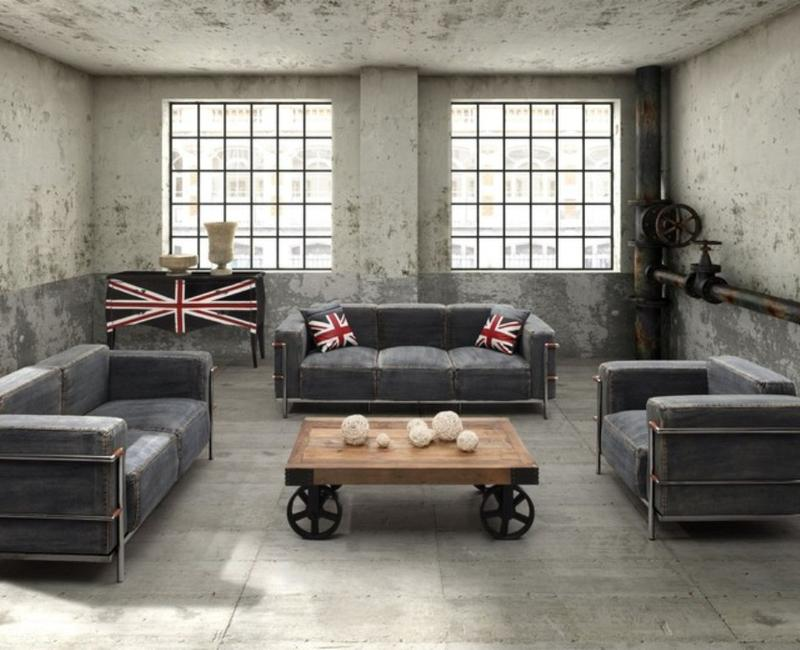 15 Stunning Industrial Living Room Designs - Rilane - cool living room furniture