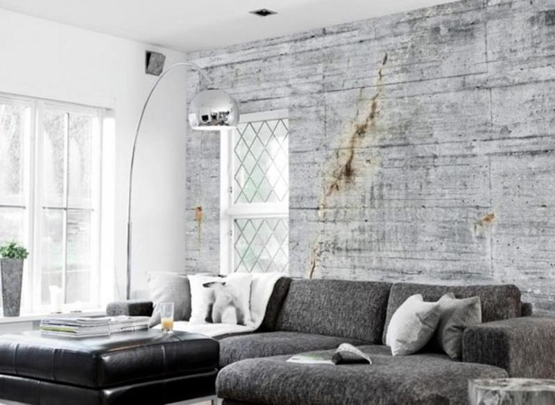 25 Captivating Living Room Designs With Concrete Wall - Rilane - cool living room furniture