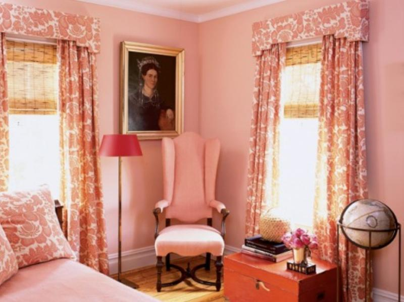 20 Charming Coral Peach Bedroom Ideas to Inspire You - Rilane - peach living room