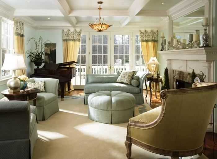 15 Cozy Living Rooms with French Doors and Windows - Rilane - french style living room