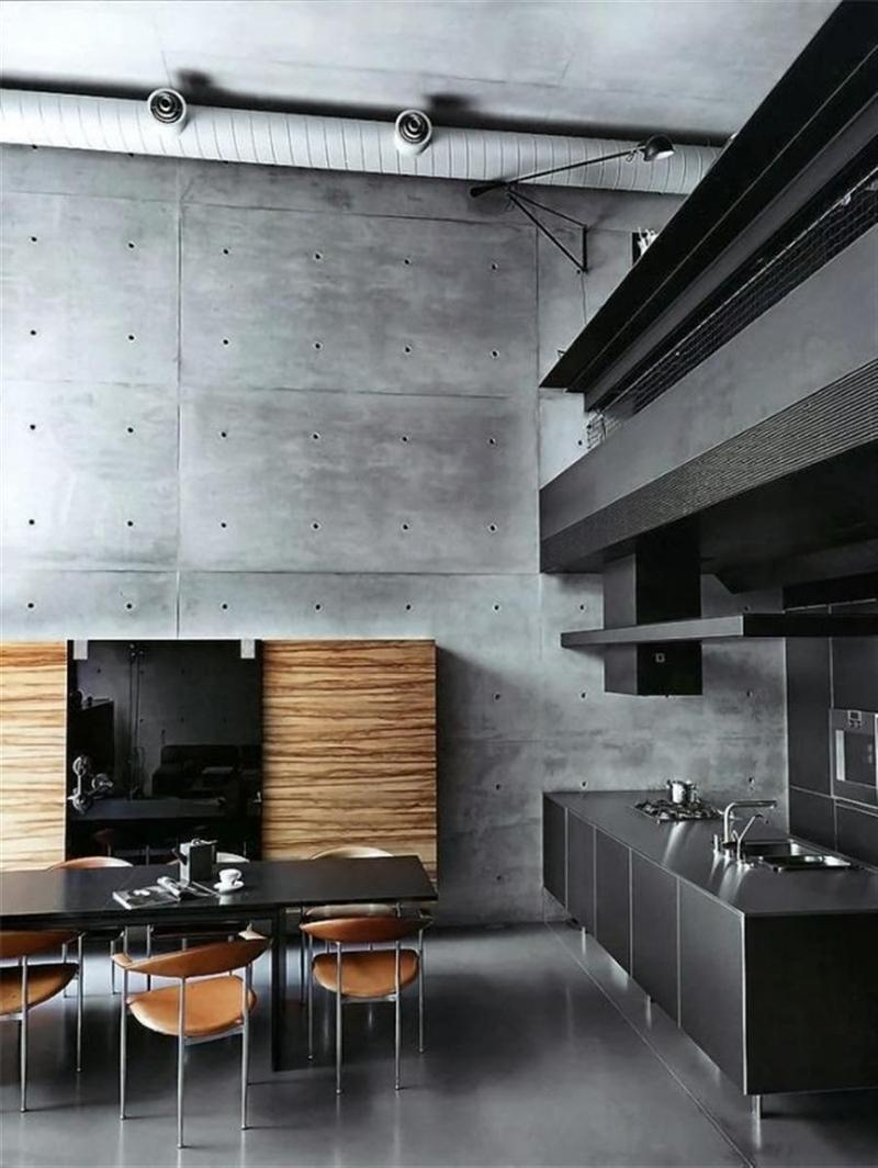 Concrete Rooms 20 Extremely Bold Kitchen Designs With Concrete Wall Rilane