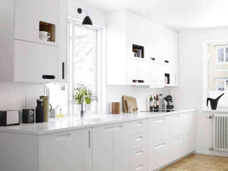 Muebles Para Cocina Economica 20 Sleek And Serene All White Kitchen Design Ideas To