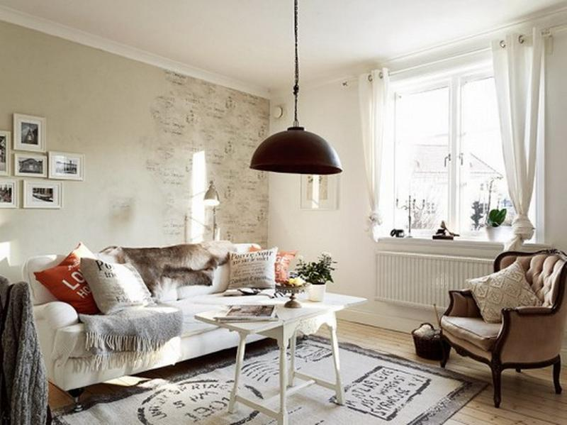 20 Distressed Shabby Chic Living Room Designs To Inspire - Rilane - country chic living room