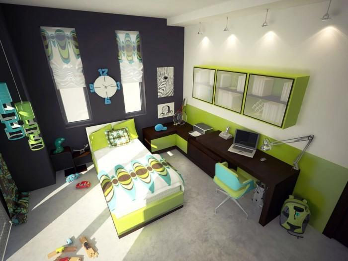 15 Cool And Charming Green Kids Bedroom Rilane
