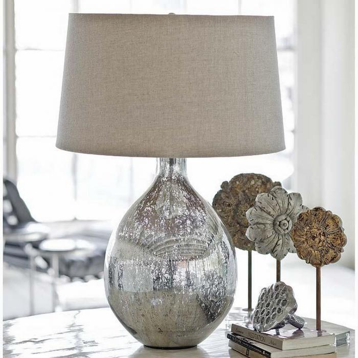 10 Alluring Glass Table Lamps To Embellish Your Living Room - Rilane - glass table lamps for living room