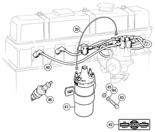 triumph tr6 coil diagram