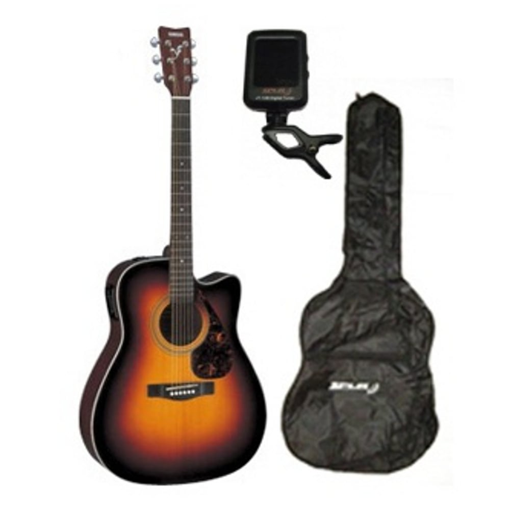 Acoustic Yamaha Yamaha Fx370c Acoustic Guitar Tobacco Brown Sunrise Free Accessories