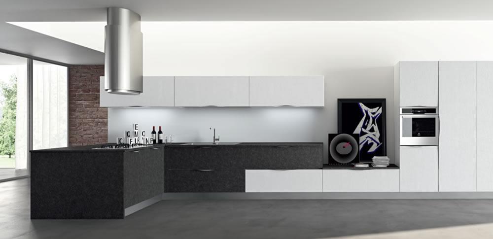 Cucina Componibile Nera
