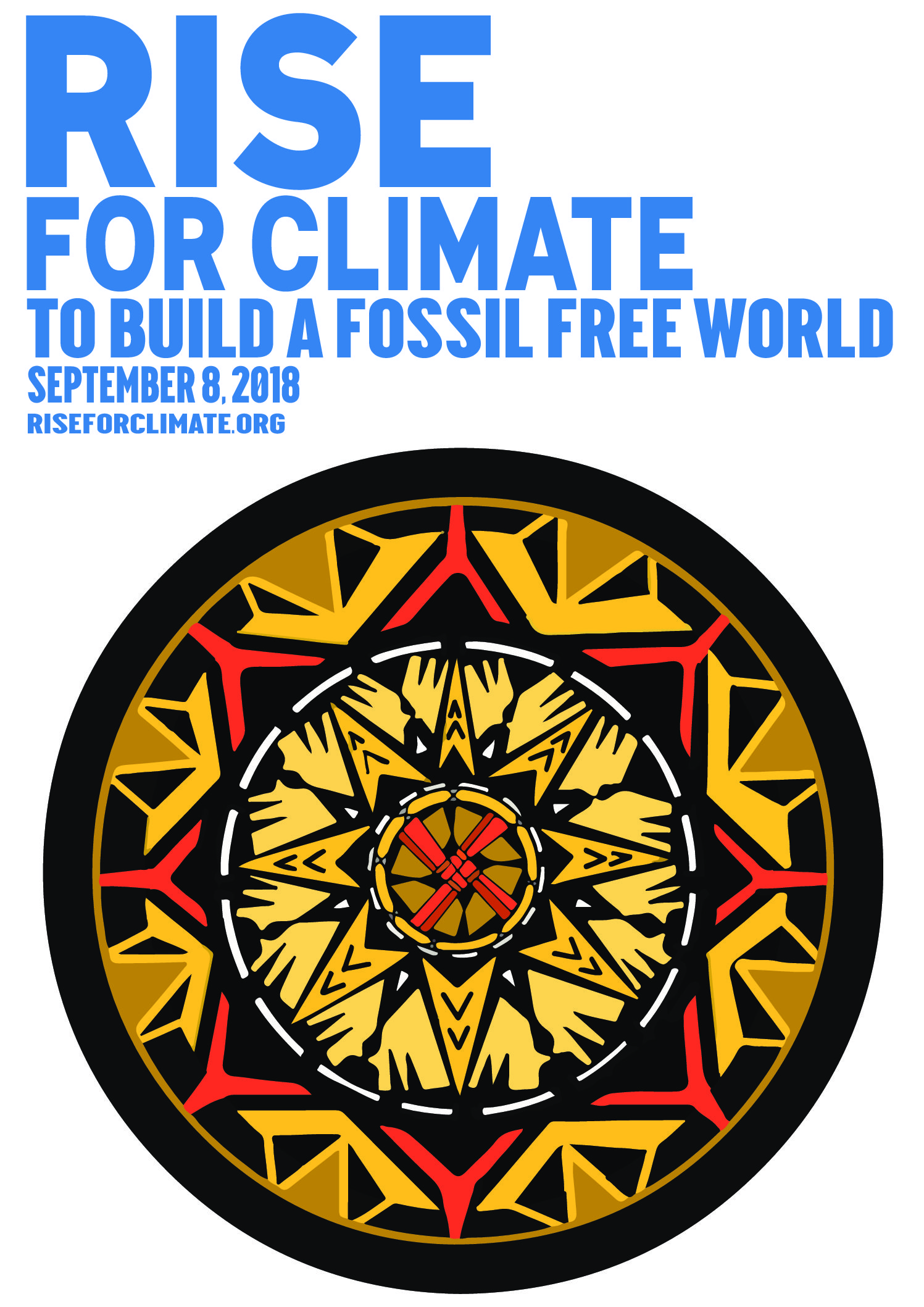 Poster Of The World Rise For Climate Rise Art