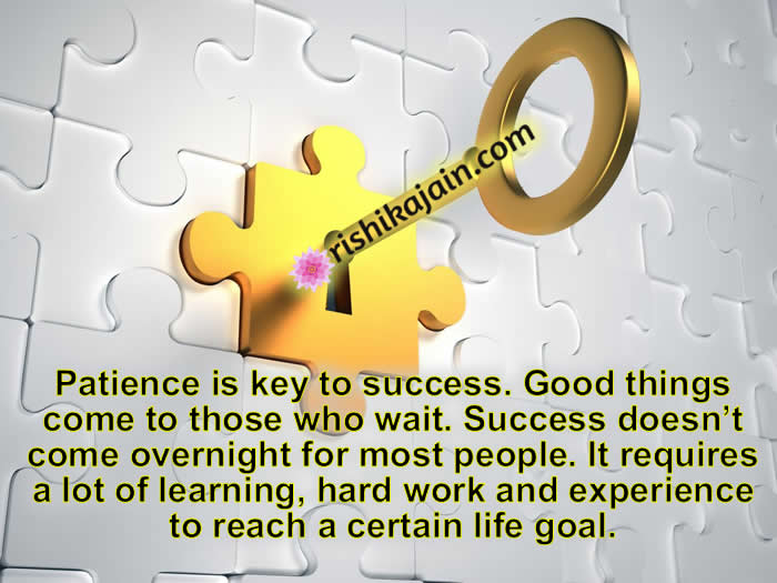 Patience is key to success Inspirational Quotes - Pictures