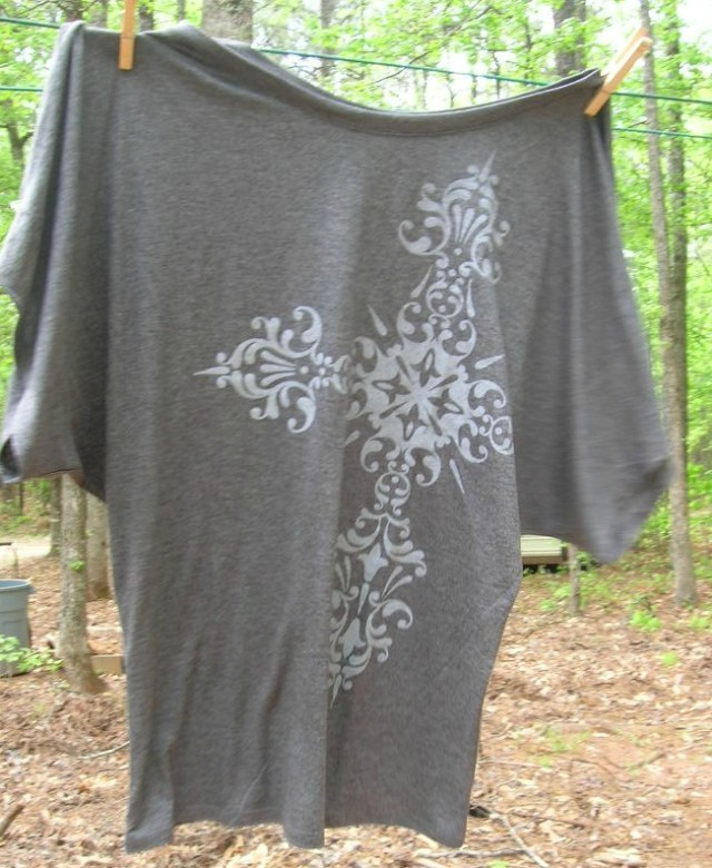 Long Cross Flowy Tshirt