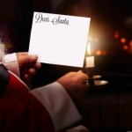 Santa Claus reads letters from kids