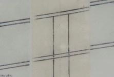 Canòdrom Meridiana - Detall (macro). Plànol en paper vegetal després de restaurar