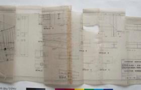 Plànol en paper vegetal, abans de restaurar