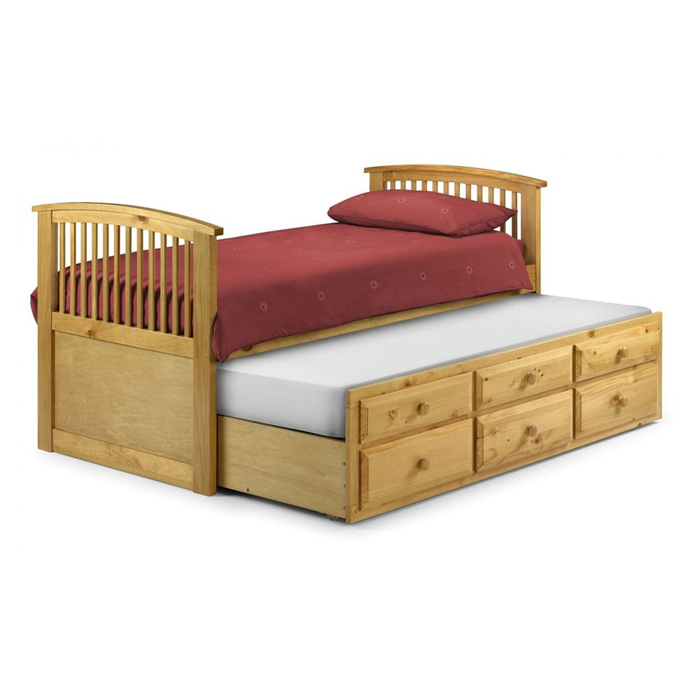 Hornblower Single Pull Out Storage Bed Antique Pine Rite Price - Single Bed Price