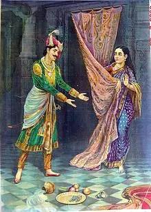 Kichak and Draupadi in Mahabharat