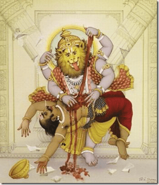 narasimha avatar dashavatar lord vishnu indian mythology Dashavatar pictures   Indian mythology (1)