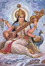 Goddess Saraswati with Veena