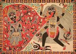 Maa Kali and Raktabija