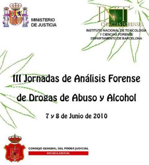 III Jornadas de Análisis Forense de Drogas de Abuso y Alcohol