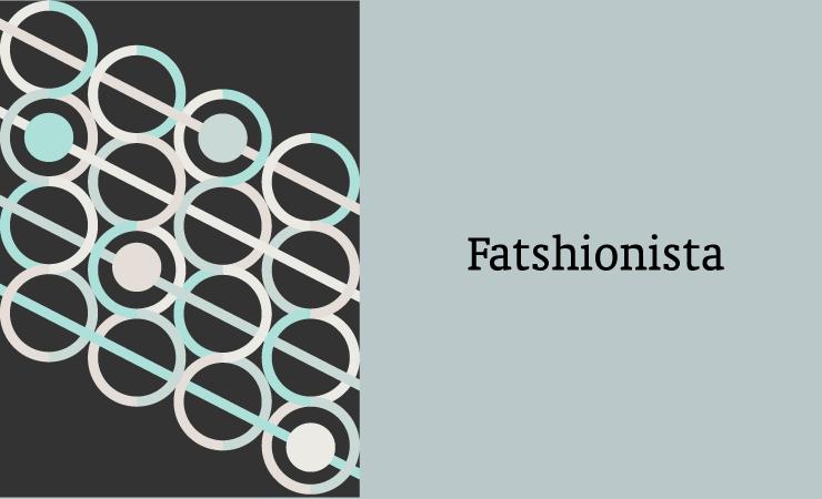 Fatshionista Card Vector Illustration