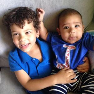 Lucas, age 3 years and Elijah, 5 months